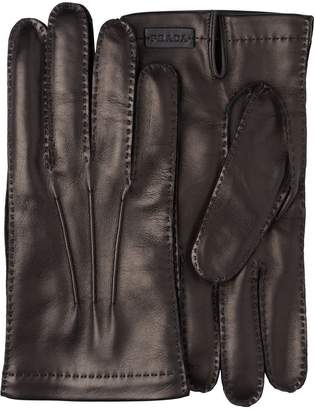 Prada Leather and cashmere gloves