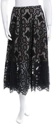 Alexis Mabille Lace Midi Skirt w/ Tags