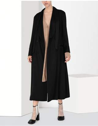 Maison Margiela Long Pinstripe Coat
