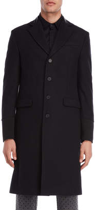 Imperial Star Black Button Overcoat