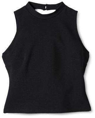 Mossimo Women's Jacquard Crop Top - Black