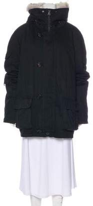 Yves Salomon Fur-Lined Hooded Jacket