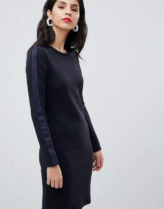BOSS Casual Boss Casual Knitted Dress with Pleat Detail
