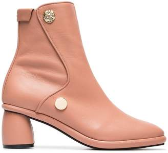 509efc25d28f Reike Nen Pink Curved 80 Leather Ankle Boots