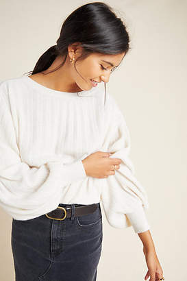 White + Warren Ribbed Cashmere Pullover