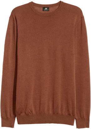 H&M Merino Wool-blend Sweater - Beige