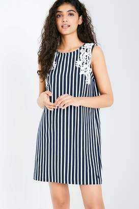 Jack Wills Dress - Speistbury Stripe Lace Trim