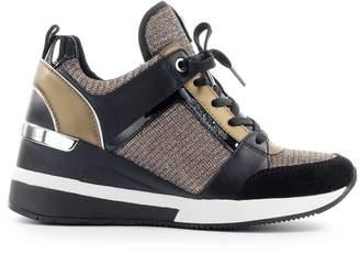 Michael Kors Georgie Trainer Black Bronze Silver Sneaker