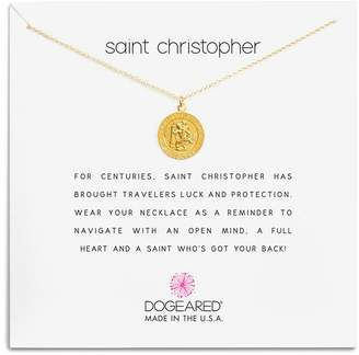 """Dogeared St. Christopher Necklace, 16"""""""