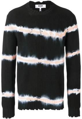 MSGM tie dye print sweater