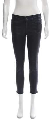 Stella McCartney Mid-Rise Metallic Jeans Navy Mid-Rise Metallic Jeans