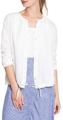 Nic+Zoe Self-Tie Long-Sleeves Cardigan