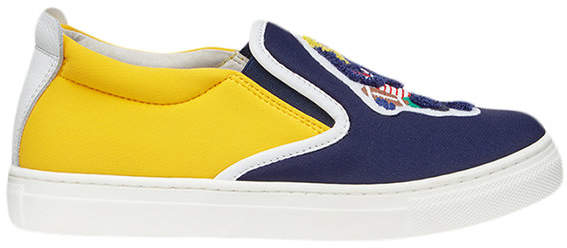 patch slip-on sneakers