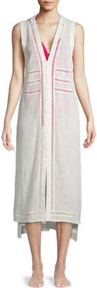 Dolce Vita Cut-Out High-Low Cotton Maxi Coverup