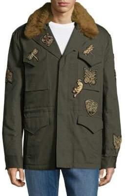 Roberto Cavalli Metallic Patch Jacket