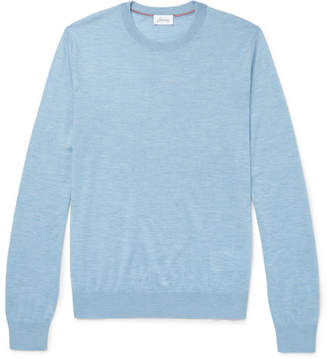 Brioni Slub Cashmere-blend Sweater - Blue