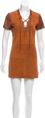 Tod's Suede Mini Dress