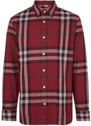 Burberry Check Cotton Flannel Shirt