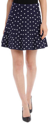 Miss Shop Spotted Knit Skirt