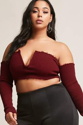 Forever 21 Plus Size Ribbed Crop Top