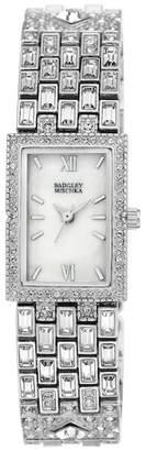 Badgley Mischka Women's Swarovski Crystal Accented Analog Bracelet Watch, 19mm