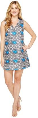 Christin Michaels - Hanelle Sleeveless V-Neck Dress Women's Dress $64 thestylecure.com
