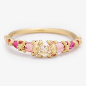 Polly Wales Coral Marietta Halo Ring