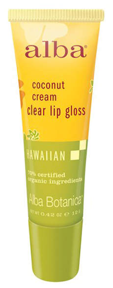 Coconut Cream Clear Lip Gloss by Alba Botanica (0.42oz Lip Gloss)