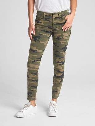 Gap Mid Rise True Skinny Ankle Jeans in Camo