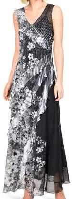 Komarov Tiered Maxi Dress