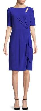 Adrianna Papell Knotted Knee-Length Dress