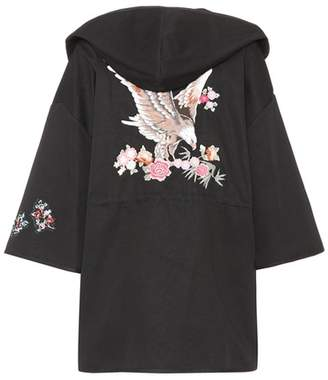 RED Valentino Embroidered cotton coat