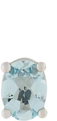 Delfina Delettrez 18kt gold Dots Solitaire aquamarine earring