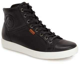 Women's Ecco 'Soft 7' High Top Sneaker $169.95 thestylecure.com