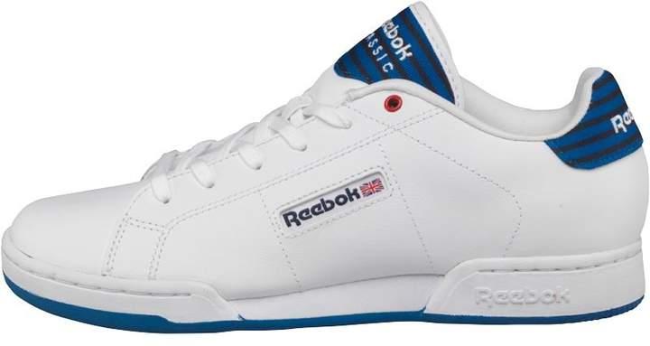 Reebok Classics Junior NPC II UN Stripes Trainer White/Awesome Blue/Navy/Red