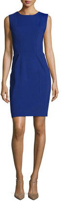 Elie Tahari Marley Sleeveless Sheath Dress, Blue $348 thestylecure.com