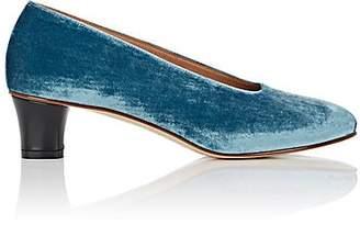 "Martiniano Women's ""High Glove"" Velvet Pumps - Blue"