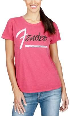 Lucky Brand Womens Fender Guitar Graphic T-Shirt Xl