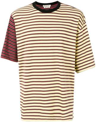 Marni contrast striped T-shirt