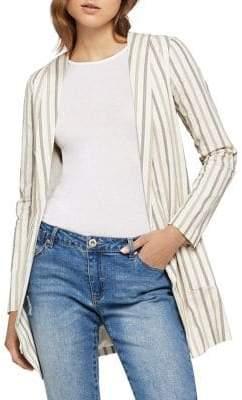 BCBGeneration Open-Front Herringbone Stripe Jacket