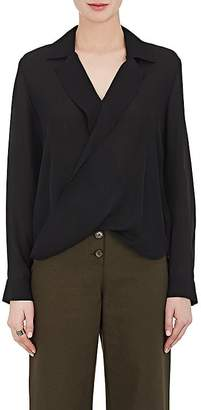 L'Agence Women's Rita Draped Silk Blouse