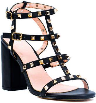 GC SHOES GC Shoes Womens Valentine Buckle Open Toe Block Heel Pumps
