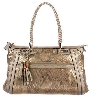 Gucci Python Bella Small Top Handle Bag