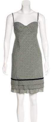 Louis Vuitton Wool Houndstooth Dress
