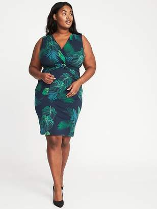 Old Navy Sleeveless Plus-Size Cross-Front Sheath Dress