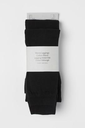 H&M MAMA 2-pack Leggings - Black