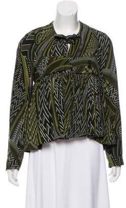 Givenchy Gathered Printed Jacket