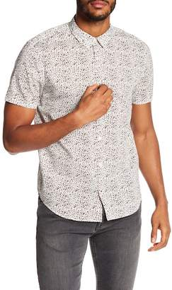 John Varvatos Mixed Print Cuff Sleeve Slim Fit Shirt