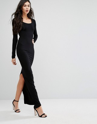 Taller Than Your Average TTYA Long Sleeve Maxi Dress With Back Split $98 thestylecure.com