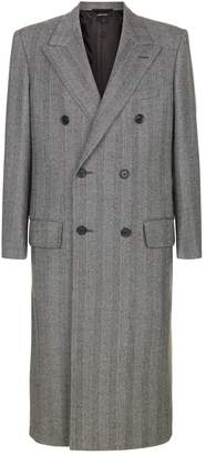 Dunhill Herringbone Double Breasted Coat